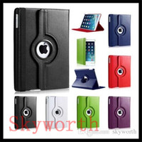 apple microfiber - For ipad pro air mini Rotating Leather Case smart cover Samsung galaxy tab S2 S A E t580