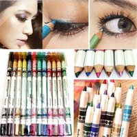 Wholesale 12Pcs Colorful Glitter Lip liner Eye Shadow Eyeliner Pencil Pen Makeup Sets
