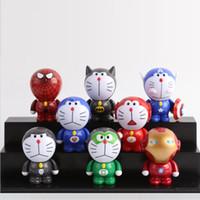 Wholesale 2016 New Sale Japanese anime Doraemon Cosplay Avenger Super Hero Action Figures PVC Collection Figure Toys for Christmas Gift set