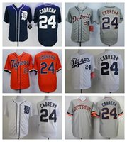 Cheap Miguel Cabrera Jersey,Cheap Detroit Tigers 24# Baseball Jersey, Stitched Blue Gray Orange White High Quality