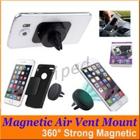 Wholesale 360 Degree Universal Car Holder Magnetic Air Vent Mount Smartphone Dock Mobile Phone Cell Phone Holder for iphone with retail package