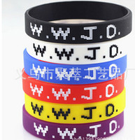 Wholesale What Would Jesus Do Silicone Wristband Bracelet WWJD Power Jewelry Unisex Iverson basketball bracelet with the same paragraph WWJD wristband