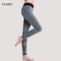 Wholesale Fitness Women Running Elastic Yoga Sport Leggings Women Fitness Sport Trousers Running Pants