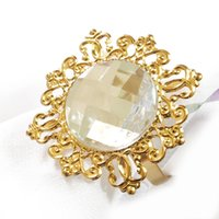 Wholesale New Gold Clear Napkin Ring for Weddings Party Hotel Banquet Dinner Decor NR01 GCL