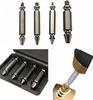 Wholesale 4 Screw Extractor Drill Bits Guide Set Broken Bolt Remover Easy Out Set cm Long Price