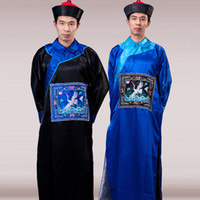 ancient chinese robes - Cheap Chinese Qing dynasty minister ancient Tang Hanfu Costumes tricky terrorist zombie Ghost set Halloween masquerade robes suits clothing