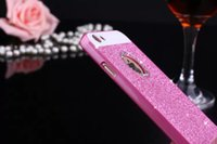 Wholesale High Quality Luxury Case For Apple Iphone Acrylic Pink Pc Material Flash powder Cover For Iphone4S S S Splus