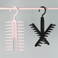 Wholesale New cm Degree Rotating Men Tie Storage Hanger Neckties Organizer Color Men Tie Storage Rack
