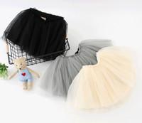 Wholesale Kids Clothing Girls TUTU Princess Skirts Black White Pink Infant Toddler Baby Pettiskirt Petticoat For Little Girls Sale