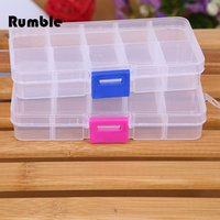 Wholesale Practical DIY Tools Packaging Box Grids Slots Electronic Spare Part Removable Storage Box Screw Jewelry Sewing Tool Box