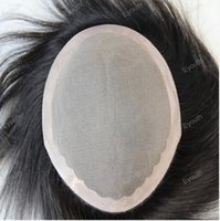 men toupee - men s toupee human hair replacement Indian virgin hair toupee for men x8 inch Color no shedding no tangle