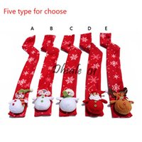 Wholesale Small Snowman Decoration Children Scarves Scarf Ring For Kids Christmas Gifts Types