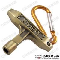 Wholesale Bronze Drum Skin Tuning Key w Carabiner Jazz Drum set Tool Key Wrench