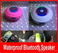 Wholesale Colorful LED Waterproof Speaker Wireless Bluetooth Speaker with LED light Shower Car Handsfree Receive Call Suction Mic for iPhone