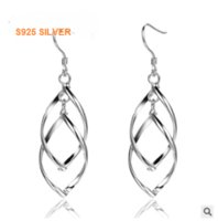 atm best - S925 Silver earrings minimalist fashion style plain silver earrings sterling silver ear jewelry unique design genuine high end gift best atm