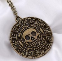 aztec gold color - Pirates of the Caribbean necklace Pirates money sweater chain The Aztec gold COINS skull necklace color optional