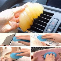 air tool storage - car styling green Yellow pink blue Magic Car Vent Air Outlet Storage Box Panel Door Handle Super Dust Cleaner Tool for car