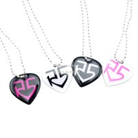 away dog - Drop Shipping Heart Shape R5 Aluminum Dog Tag Necklace Give Away Gift for Music Fans Colours