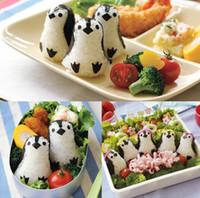 baby rice cakes - cartoon penguin rice cake molds japanese DIY d baby sushi cases vivid figures set eyes nose feet