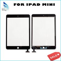 Wholesale For iPad mini iPad mini Touch Screen Digitizer Replacement with IC with Home Botton with M Adhesive Tapes Free DHL Shipping