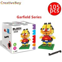 Wholesale Creative boy Diamond particles small blocks Garfield children educational toys assembled new arrival educational toys
