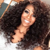 big cap stocks - Front Lace Wigs Natural Color Bouncy Curl For Black Women Light Brown Color Cap In Stock Best Quality Swiss Lace