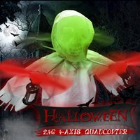 Wholesale Halloween gifts Skeleton Luminous LED Lights Flash Aircraft Colorful Holiday Unmanned Aerial Vehicle with Controller Terrorist Specter