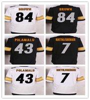 Wholesale 2016 NEW Steelers Elite Jerseys Football Jerseys POLAMALU Roethlisberger Brown Football Team Jerseys Stitched Men s Football