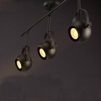 armed shop - LOFT American Vintage Industrial Creative Personalized LED Clothes Shop Living Room Ceiling Lamp Long Arm Iron Art Corridor Spotlight