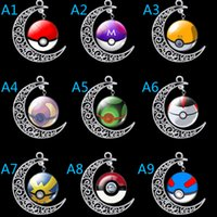 animal timer - 2016 Newest Hot Sale Beauty Color Poke Mon Go Timer Diamond Necklace Moon Ball Shape Pendant Necklaces Fashion Jewelry