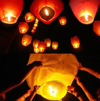 air lanterns - 200pcs Multicolor Paper Chinese wishing lantern Flying hot air balloon Fire Sky lantern Decor for Birthday Wish Wedding Party
