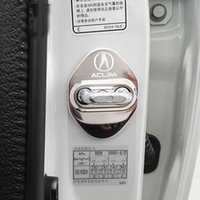 acura zdx - High Quality Stainless Steel Car Door Lock Cover Caps Sticker For ACURA ILX MDX RDX RL RLX TLTLX ZDX MSX Car Styling