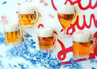 Wholesale 5 Mini Beer Magnets Super Artificial Toby Home Decor Refrigerator Stickers Fridge Magnets