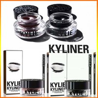 Wholesale Kylie Jenner Kyliner BRAND NEW Kylie Cosmetics Byr In Black Brown with Eyeliner Gel pot Brush