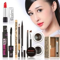 Wholesale Beauty Hot Makeup Set Eyeshadow Palette Eyelashes Brush Mascara Eyeliner Pen kit maquiagem