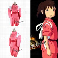 Wholesale Spirited Away Chihiro Rosa Cosplay Kostüm Lovely Girl Verkleidung Anime Voll Set