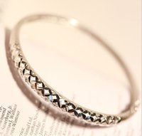 Wholesale Full crown S925 Sterling Silver Diamond Bracelet female opening Korean fashion jewelry