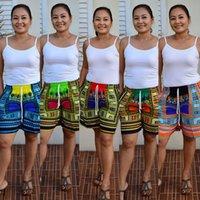 Wholesale 2016 New Fashion Sexy Bohemian Totem Shorts Digital Positioning Printing Wide Leg Loose Casual Beach Pants Multicolor Optional B