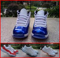 ae boy - Kids Boy Child Retro XI J11 Black Cat Sports Zapatillas Shoes Girl High Low Bred Legend Blue AE Basketball Shoes For Sale