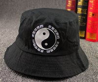 Wholesale harajuku korean sad boys ulzzang Snowy fishing Landscape Graffiti sea basin bucket hats cap hat men women lovers bucket hat