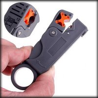 Wholesale by dhl or ems pieces Coaxial MultiFunction Cable Stripper Cutter Tool Rotary Coax Stripper for RG59 Network Tool
