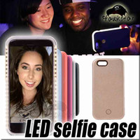apple iphone led - Iphone7 Selfie Case LED Light Up Your Face Luminous For iphone s plus s SE Galaxy S6 S7 edge