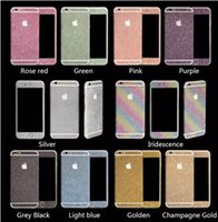 Wholesale 2016 Hot Qlitter Bling Diamond Stickers for iPhone plus samsung s7 edge Note4 note5 matte color Full Body shield Shiny insulation sticker