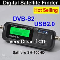Medidor de Satélite Satellite Finder por mayor Lots24 Sathero digital de bolsillo medidor de alta definición digital de señales Sat Buscador Buscador HD SH-100HD con DVBS2 de EE.UU.