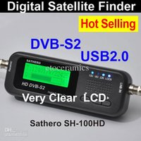Wholesale Lots24 Sathero Pocket Digital Satellite Finder Meter HD Signal Digital Satellite Meter Finder Sat Finder HD SH HD with DVBS2 US