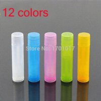 Wholesale HZ NEW mixed color Empty LIP BALM Tubes Containers Transparent diy Lipstick fashion cool lip tubes