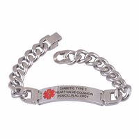 Wholesale 316L Custom Engraved Bracelet Medical Alert ID Link Chain Bracelet Jewelry Free Engraved Infomation Quality Men Jewelry