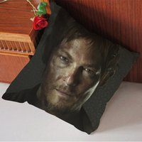 Wholesale Hot Sale Customized Daryl Dixon the Walking Dead Zombies Zippered Pillow Case Nice Pillow Sham Size x20 inches x50cm Two sides