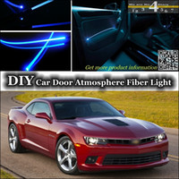 Wholesale For Chevrolet Camaro Interior Light Tuning Atmosphere Fiber Optic Band Ambient Light Inside Door Cool Strip Light Refit