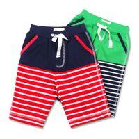 venda por atacado surf pants board pants beach pants-Bebés Meninos Calças Atacado de Meney listrado Crianças Baby Boy Surf Board Shorts praia de natação das crianças do verão Esporte Troncos Shorts para meninos
